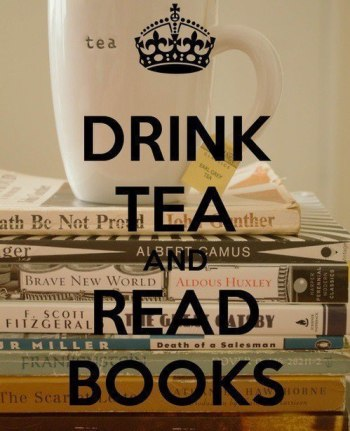 drink tea and read book